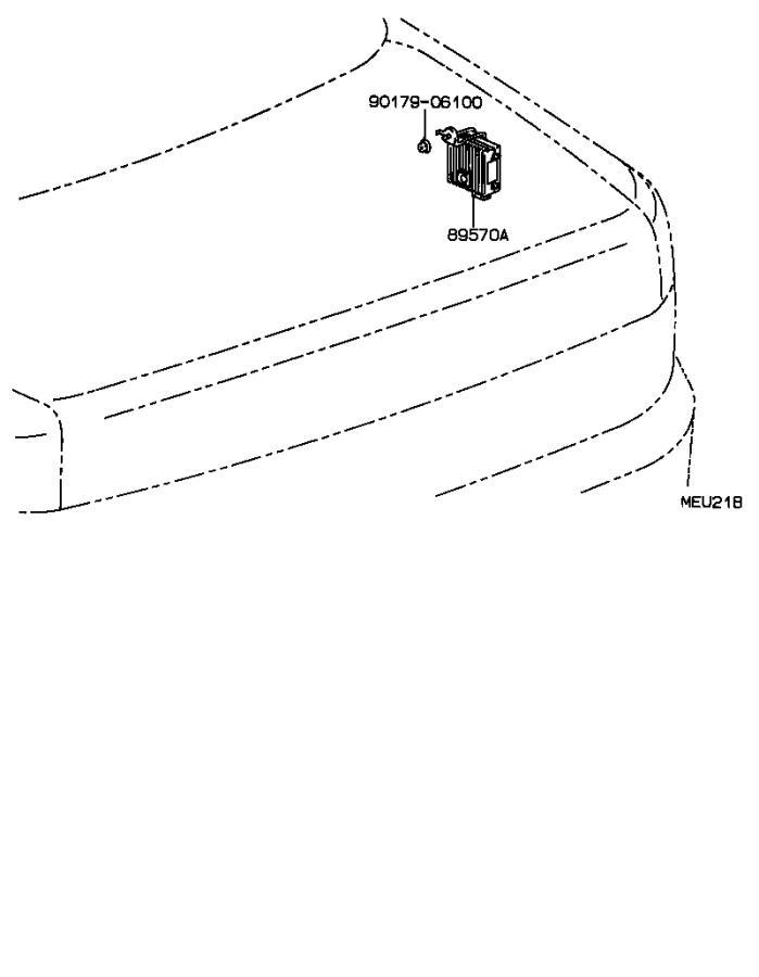 1992 Lexus LS 400 Engine Coolant Temperature Sensor