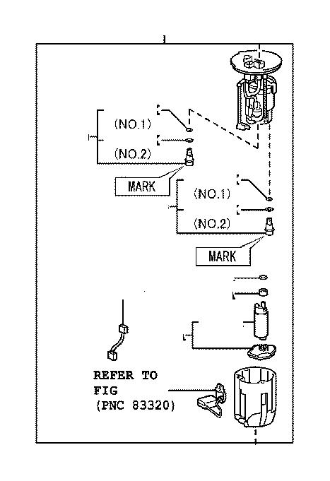 2019 Lexus ES 350 Pump; pump assembly. Fuel; fuel with