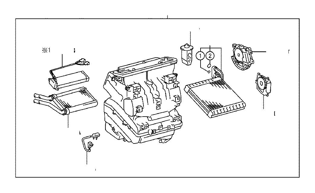 2014 Lexus GX 460 A/c expansion valve. Air, conditioner