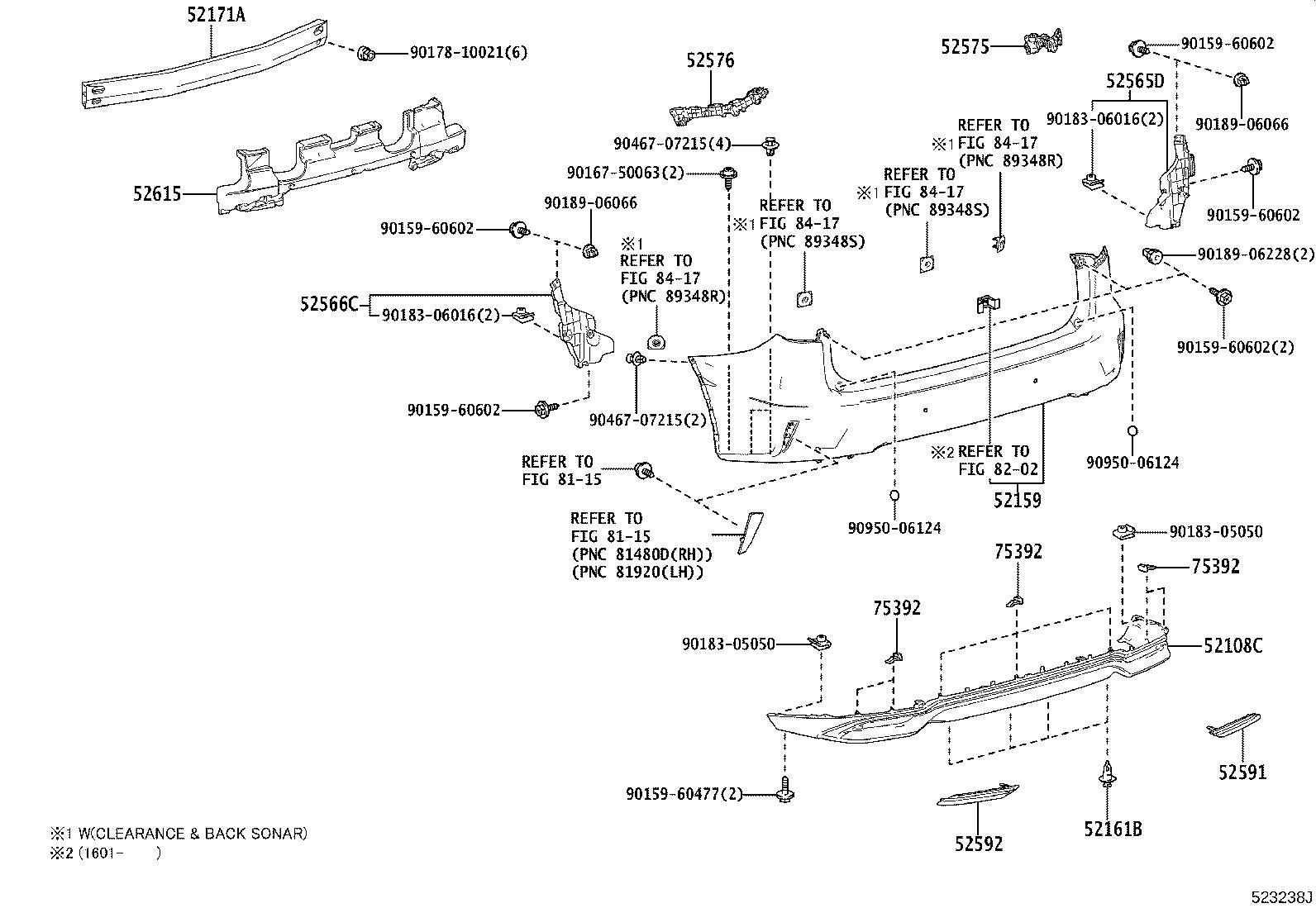 2020 Lexus RX 350 Extension sub-assembly, rear bumper