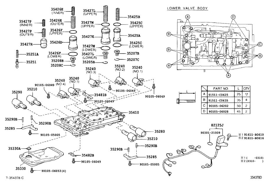 2006 Lexus Spring, compression (for solenoid relay valve