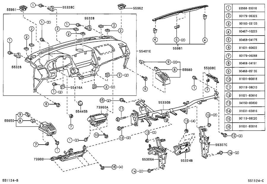 1996 Lexus Steering Column Cover (Lower). BLACK