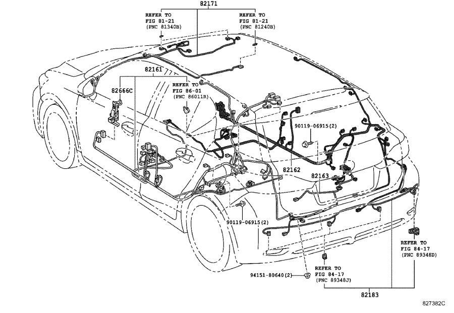 2008 Lexus Wire, front seat, left no. 2. Engine, connector