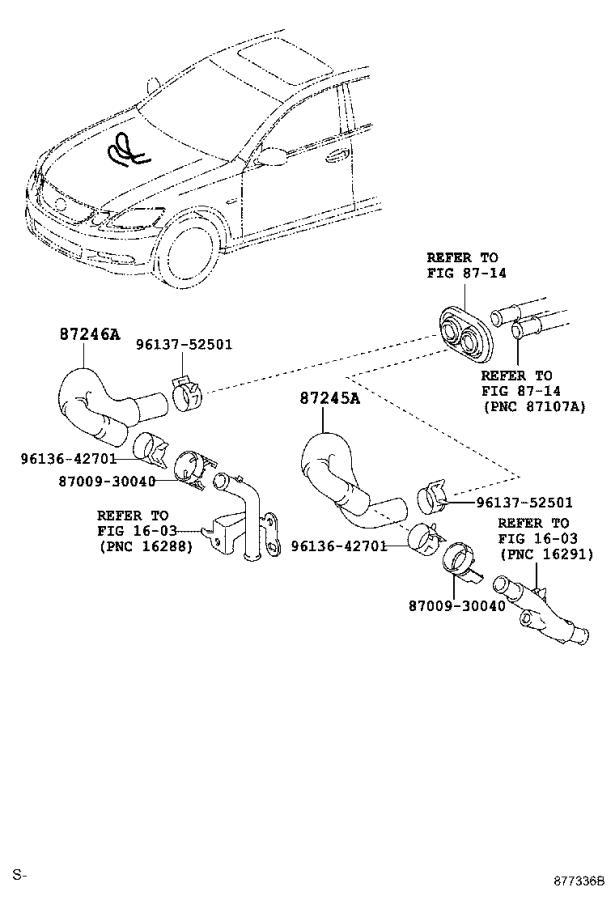2005 Lexus Hvac heater hose. Conditioning, heating