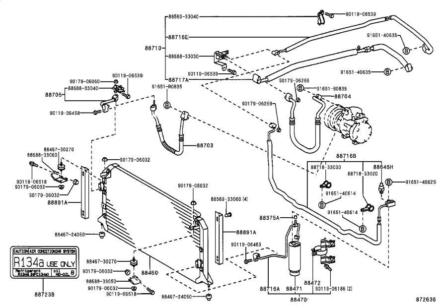 2005 Lexus Hvac pressure switch. Opt, maker, dealer