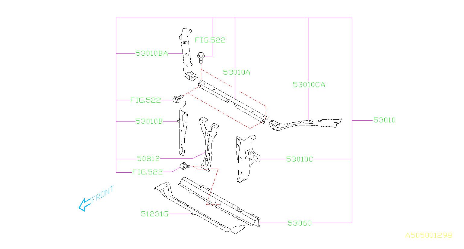 subaru forester parts diagram honda wiring harness 2016 frame complete radiator lower panel