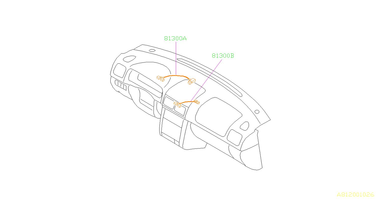 Subaru Forester Harness Instrument Panel Combi Meter