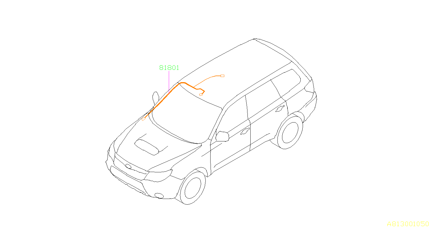 Subaru Forester Cord Roof Electrical