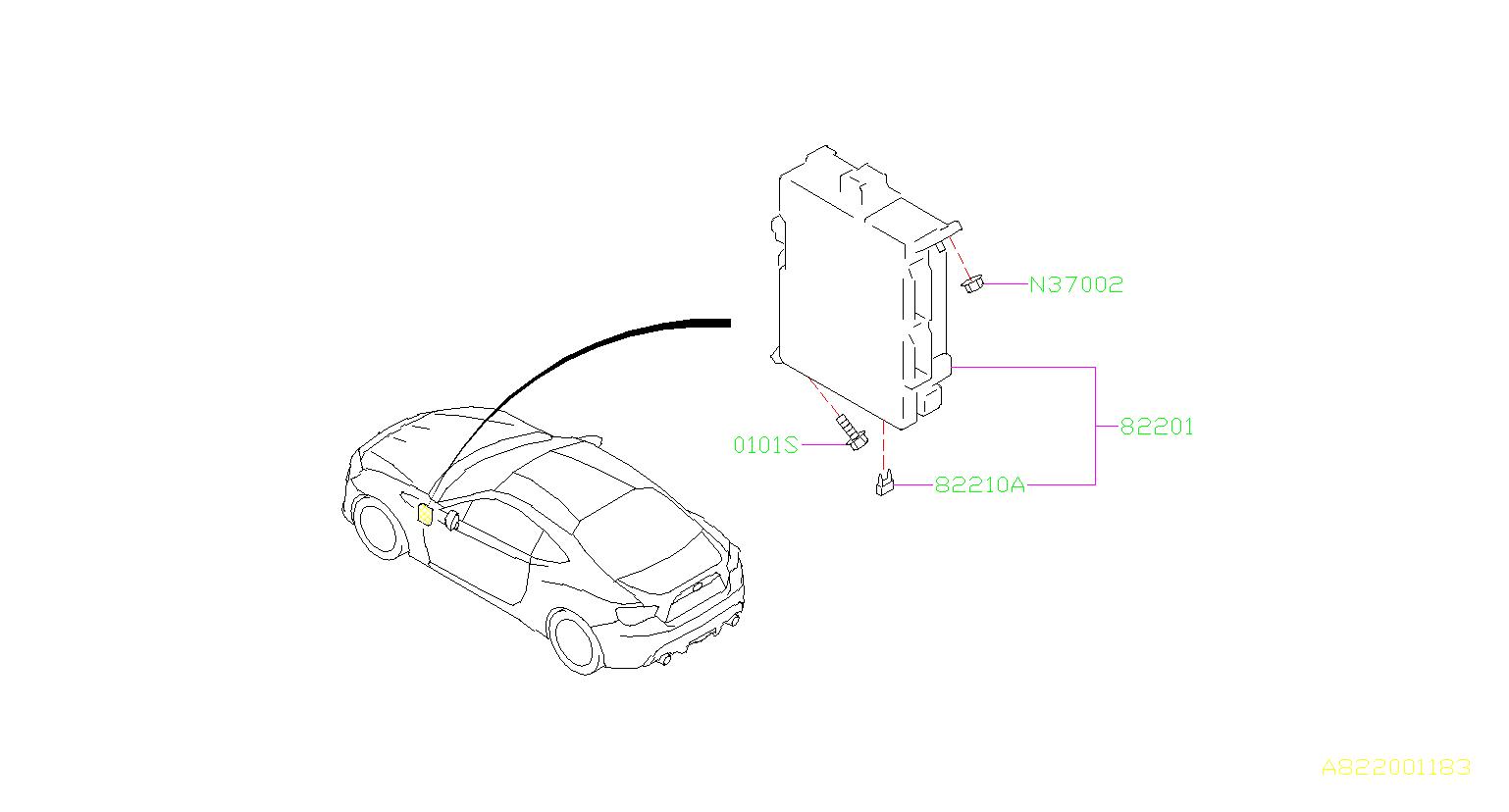 2014 Subaru BRZ Fuse-auto. Box, harness, wiring