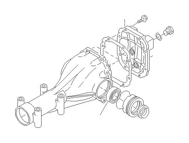 2014 Subaru Impreza Cover assembly-differential carrier