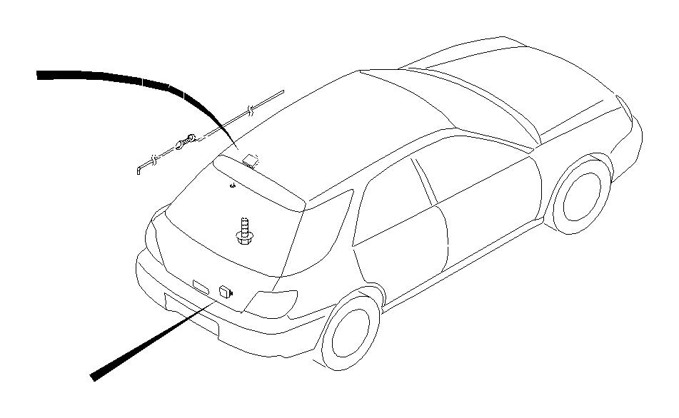 2006 Subaru Impreza Tapping screw. Antenna, glass