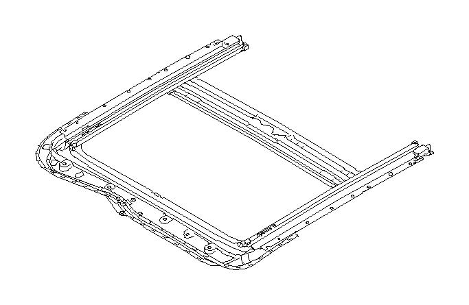 2013 Subaru WRX Rail assembly-sun roof. Sunroof, interior