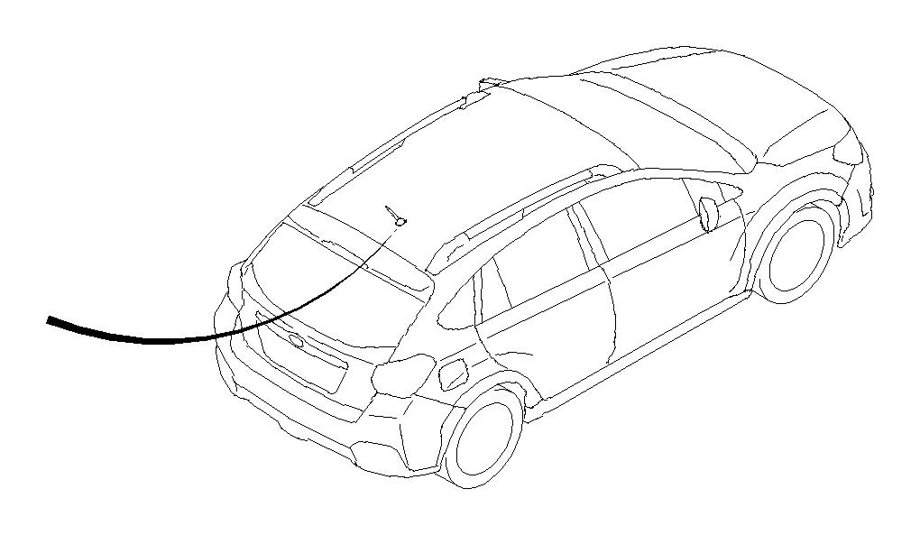 2015 Subaru Impreza Cord assembly-antenna feeder b. Audio