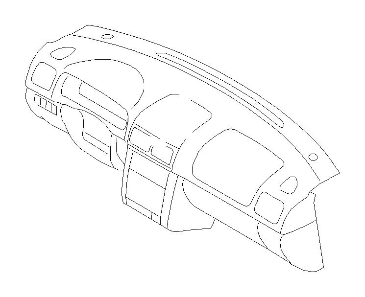 2002 Subaru Forester Harness-instrument panel, combi meter