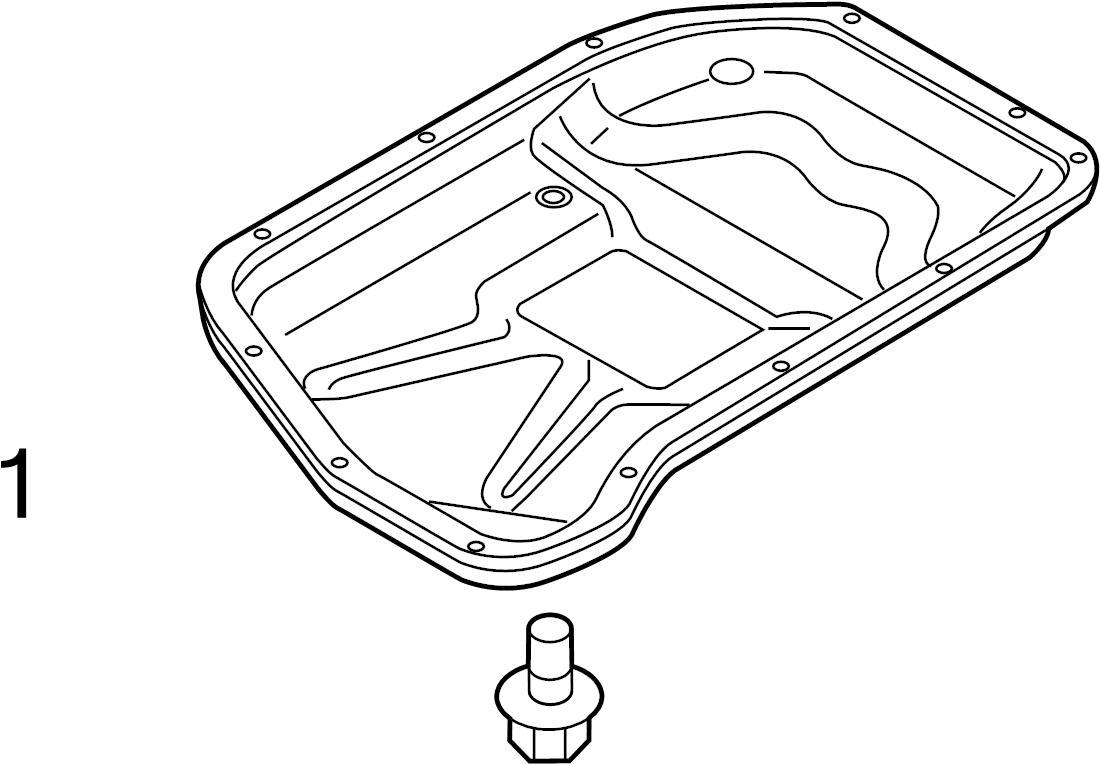 2010 Audi Automatic Transmission Oil Pan Drain Plug. LITER