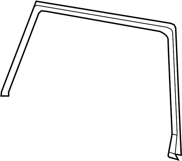 Toyota Prius v Door Glass Seal (Left, Rear). Seal, Door