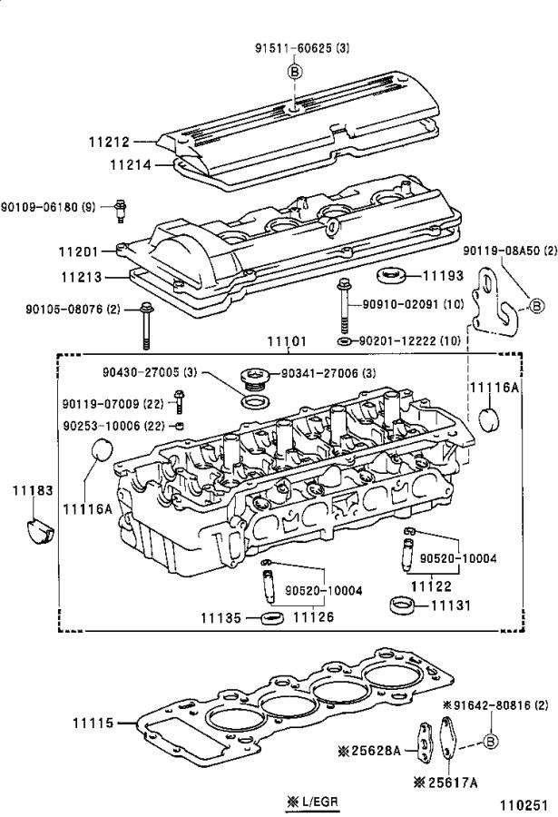 Toyota Previa Head sub-assembly, cylinder. Engine