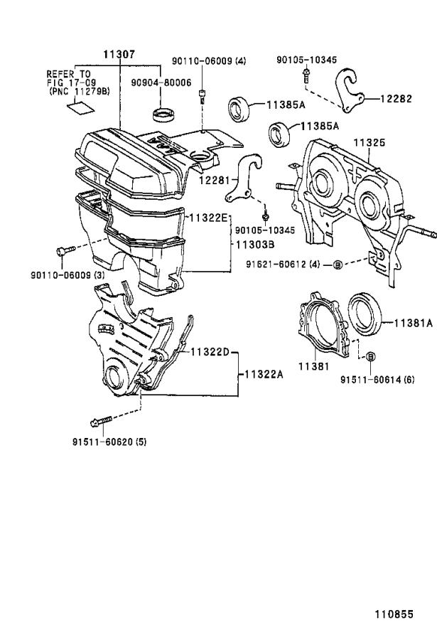 Toyota Supra Engine Timing Cover. Cover, Timing Belt, NO.2