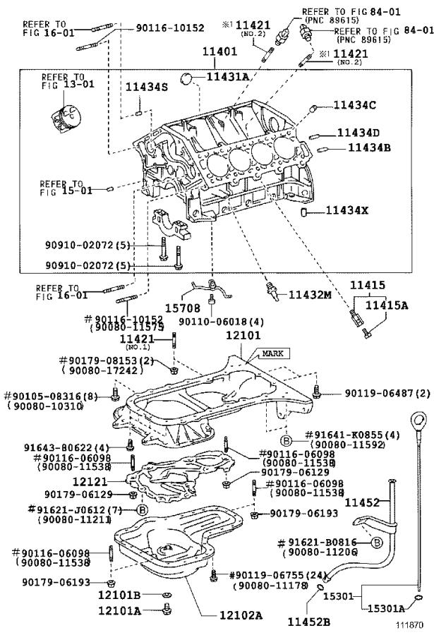 Toyota Sequoia Block sub-assembly, cylinder. Engine