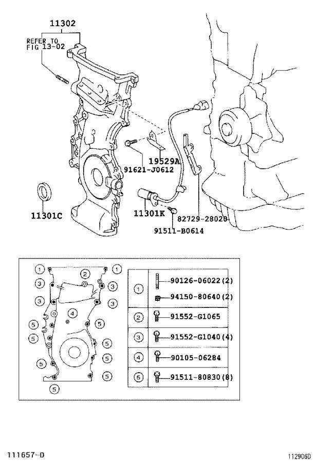 Toyota RAV4 Engine Timing Cover. Cylinder, HEAD