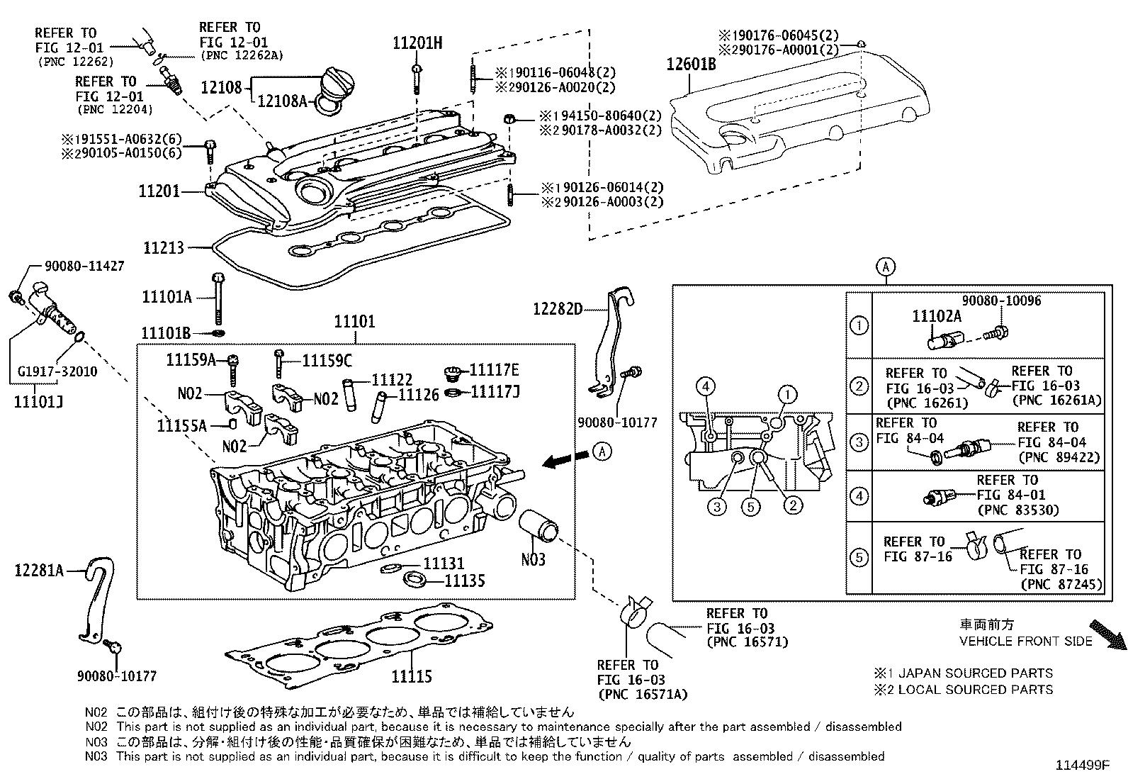 Toyota Camry Engine Valve Cover Cover Cylinder Head