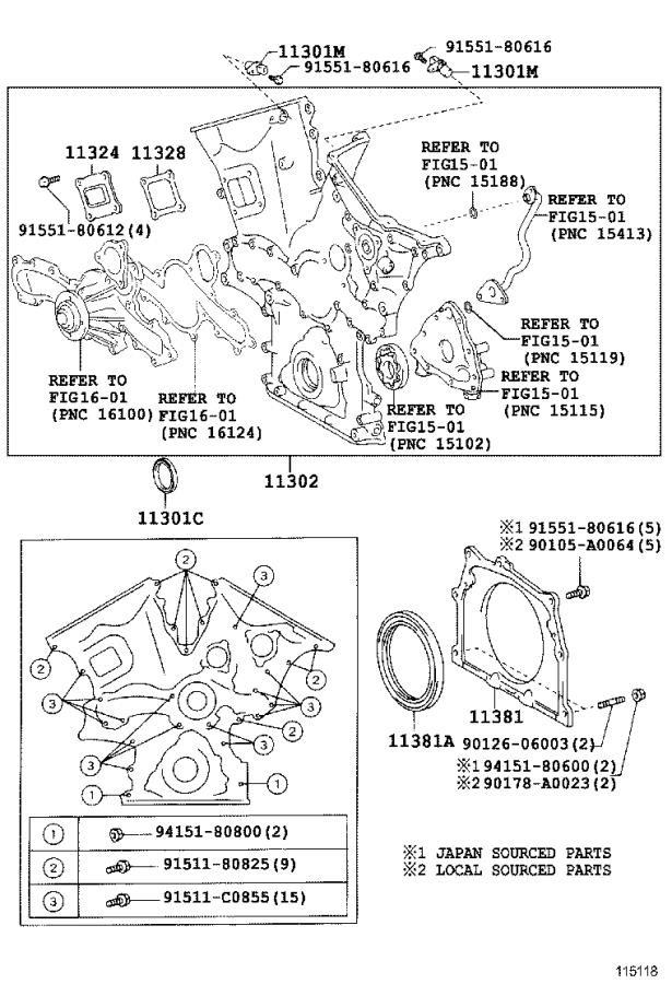 Toyota Tundra Engine Timing Cover. Cover, Timing Belt, NO