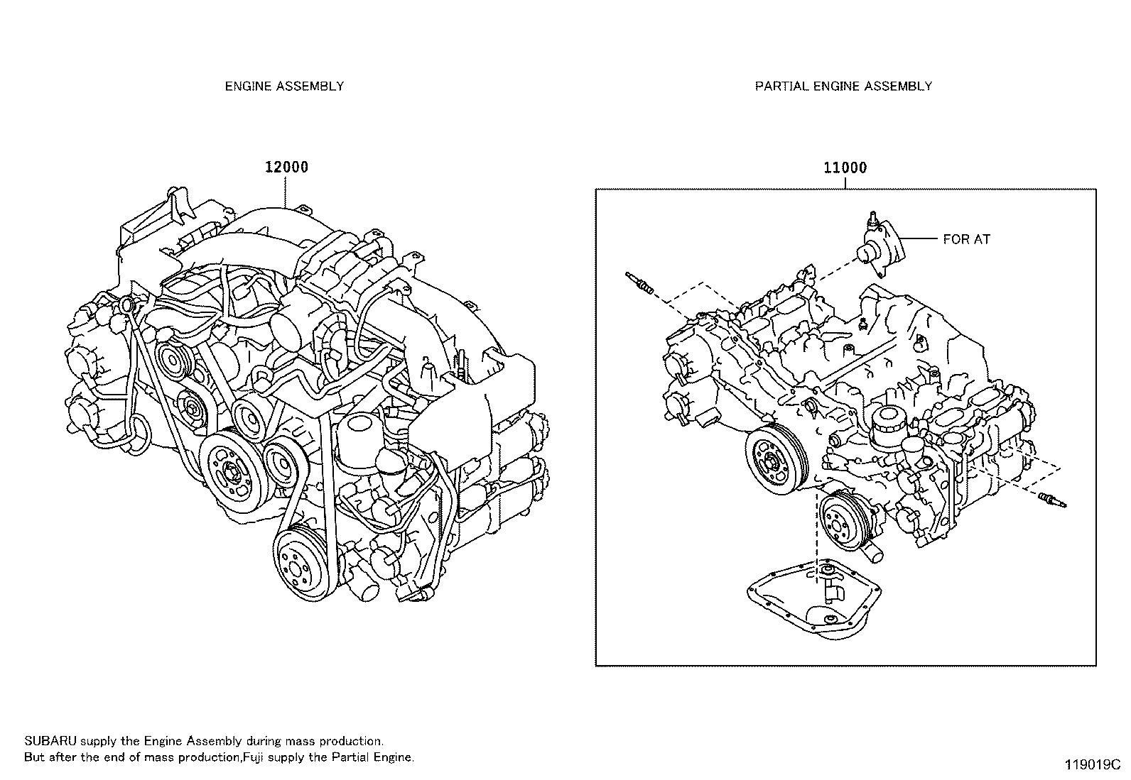 Scion FR-S Engine assembly. Partial, components