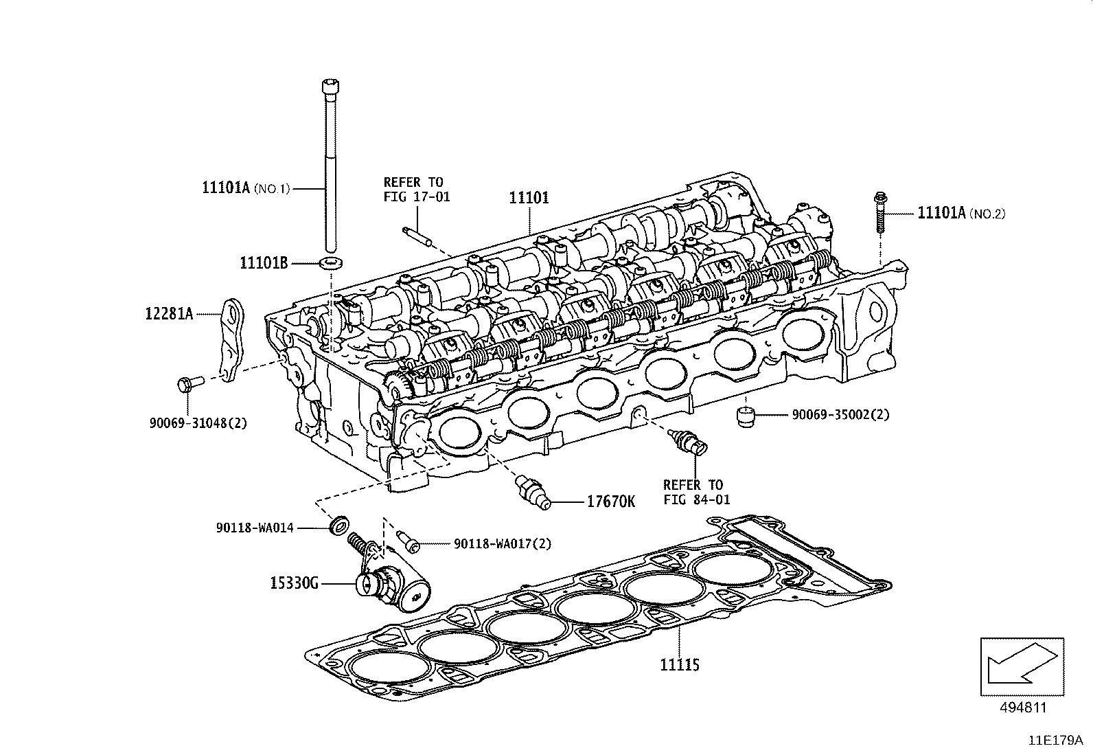 Toyota Supra Cover Cylinder Block Rear Engine No 1