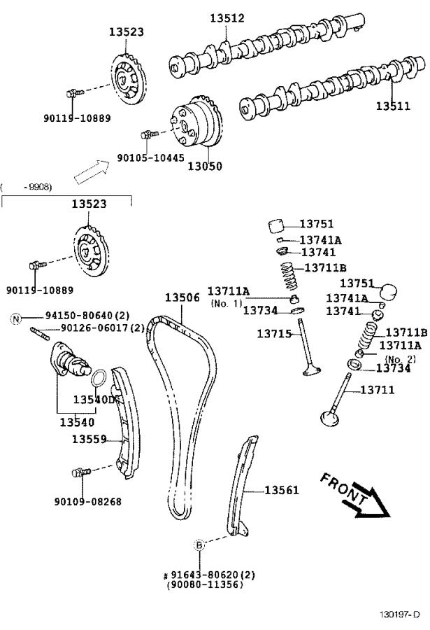 Toyota Corolla Engine Timing Chain Tensioner. Tensioner