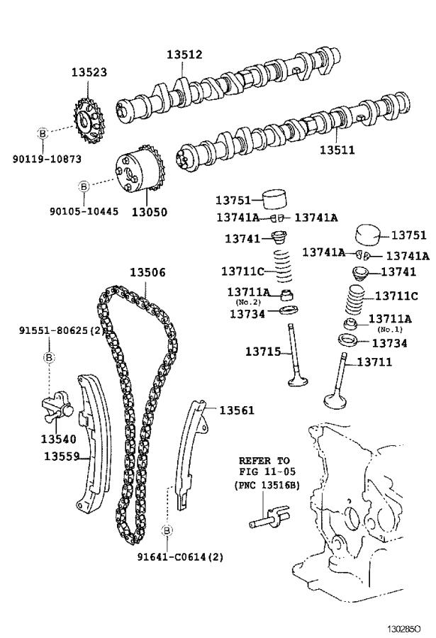Toyota Echo Gear assembly, camshaft timing. Engine