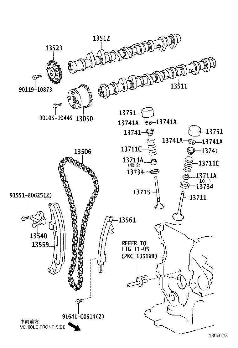 Toyota Prius Engine Timing Chain. Occurrence, BTiming