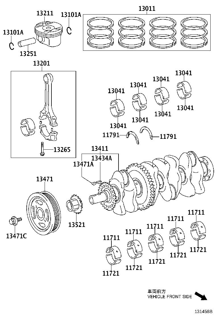 Toyota Venza Engine Crankshaft Main Bearing. Bearing