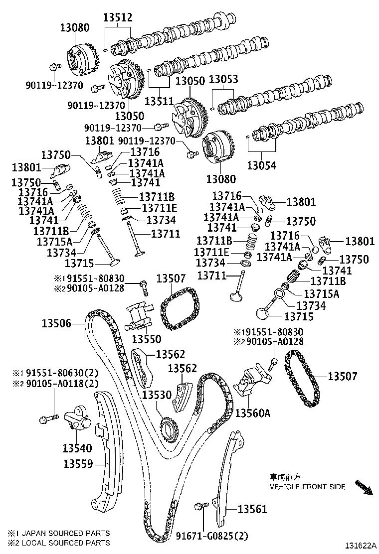 Toyota Avalon Engine Timing Chain Guide. BTiming