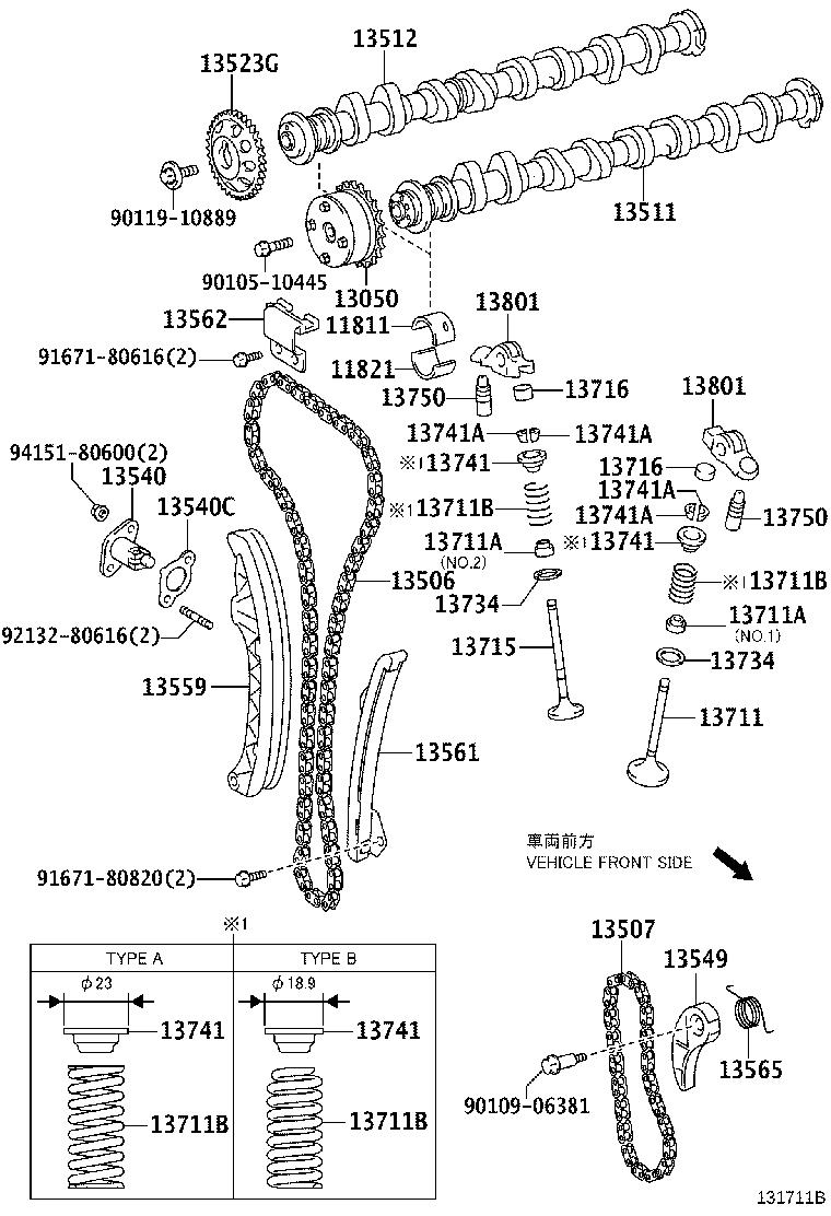 Toyota Prius v Engine Timing Chain Guide. Occurrence