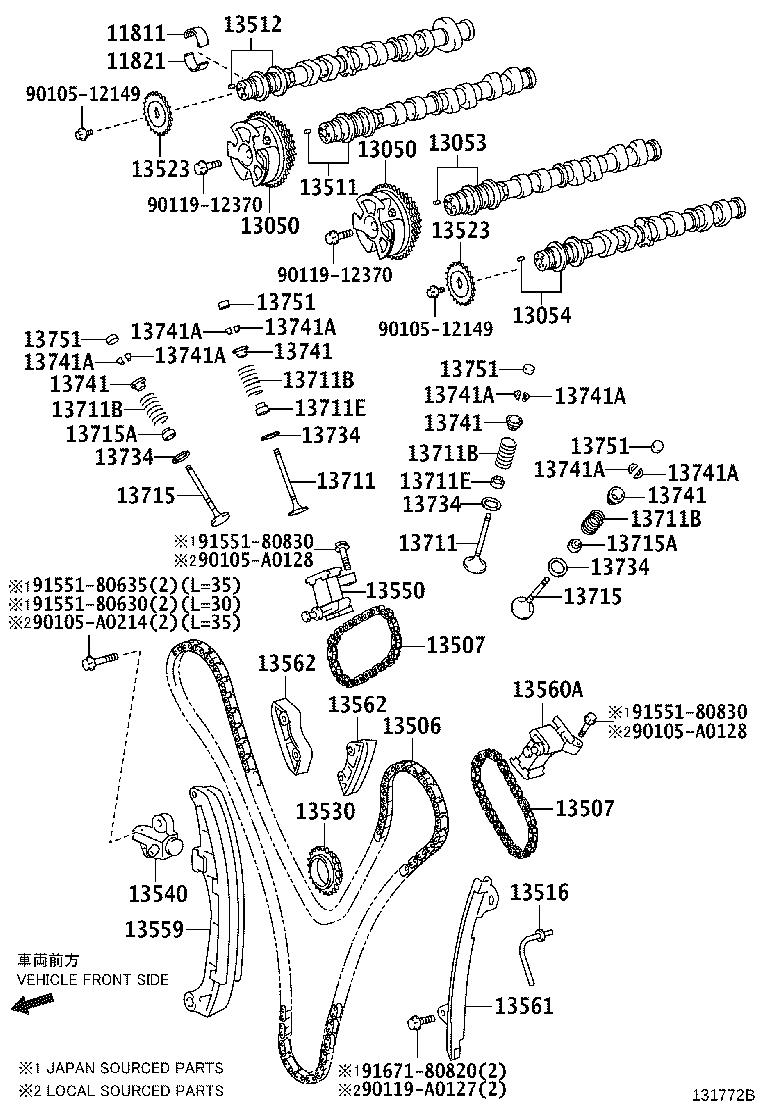 Toyota Tacoma Engine Timing Chain Guide. Occurrence