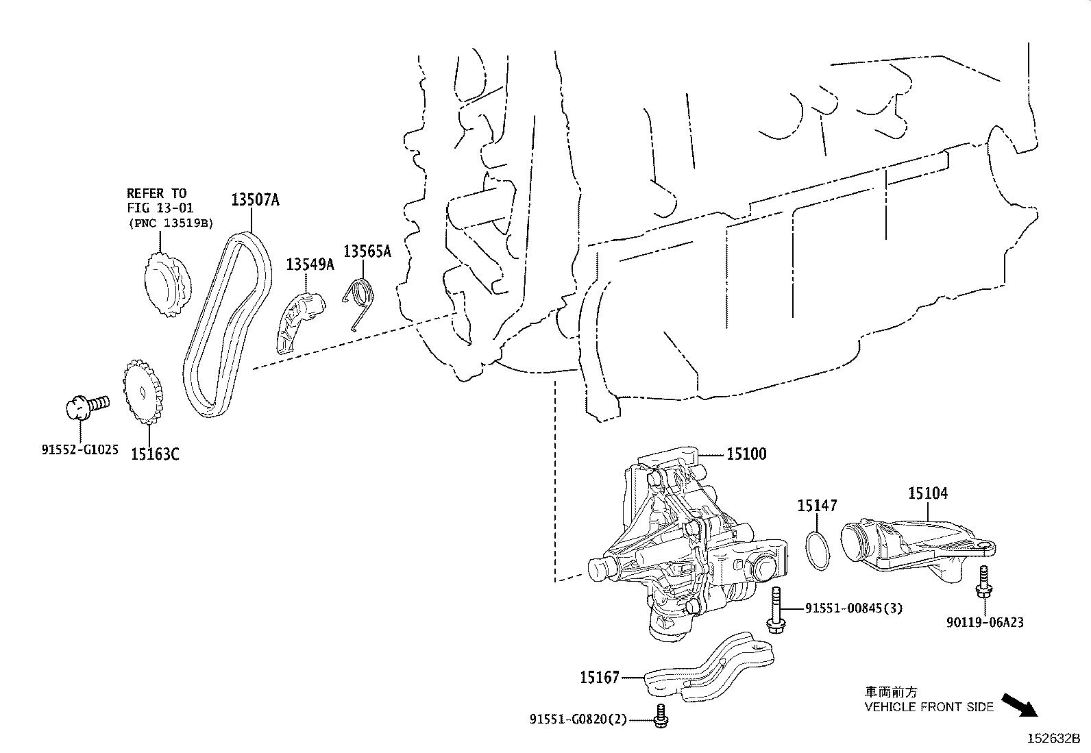Toyota Camry Pump Assembly Oil Interchangeable With