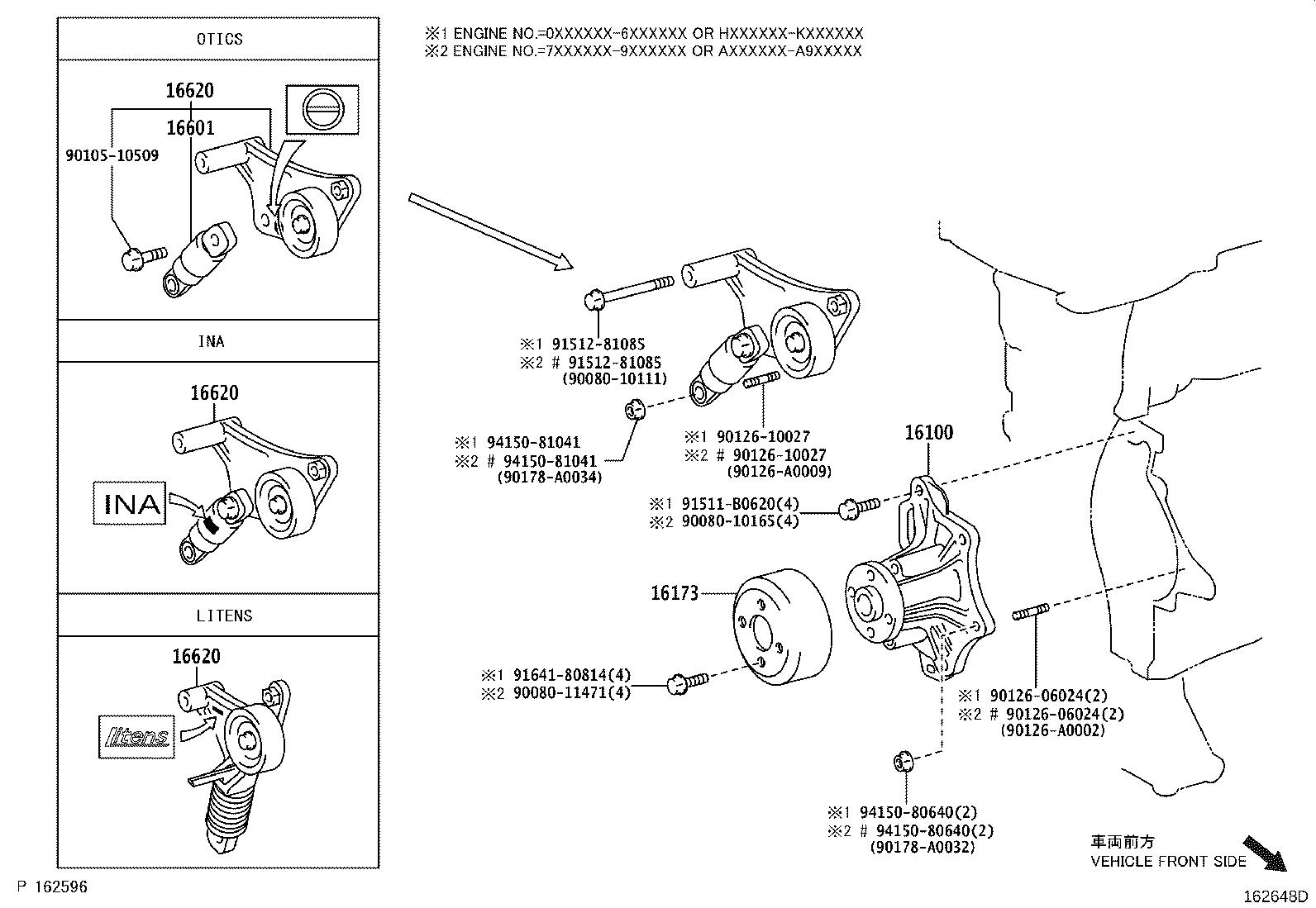 Toyota Camry Accessory Drive Belt Tensioner Engine