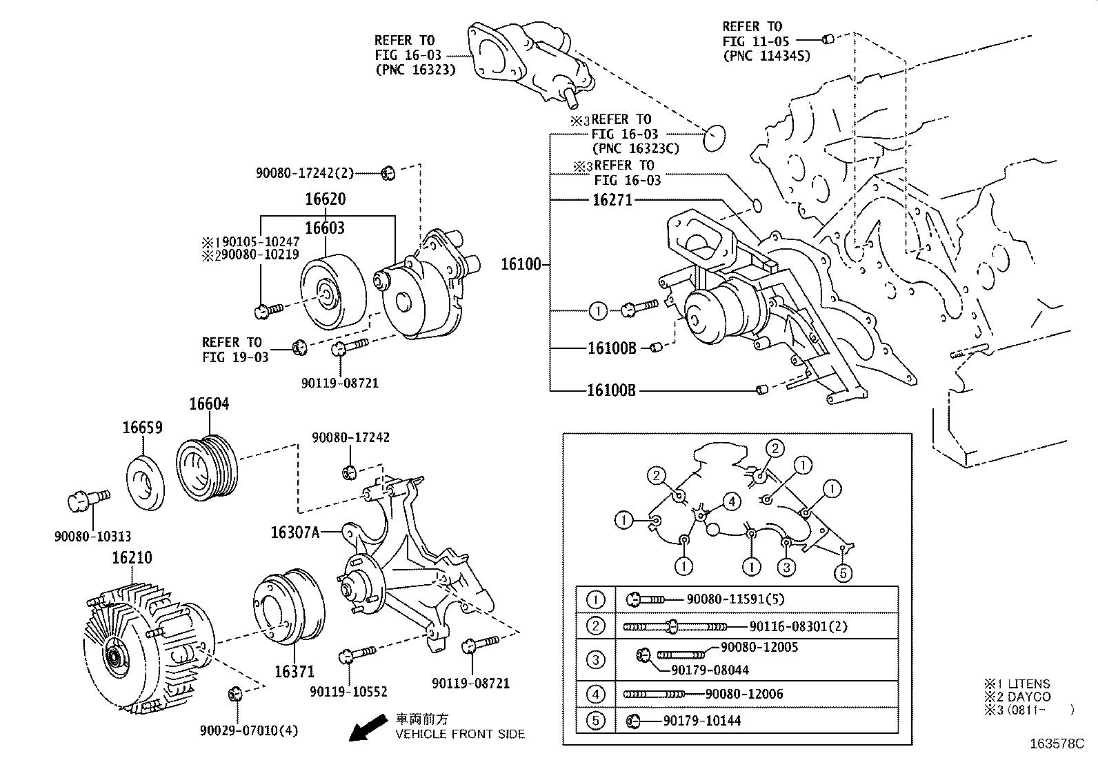 Toyota Sequoia Bracket sub-assembly, fan. Engine