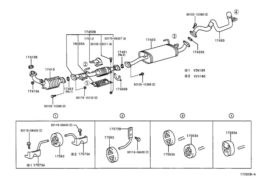 Toyota 4Runner Exhaust Muffler. Without, Which, Universal