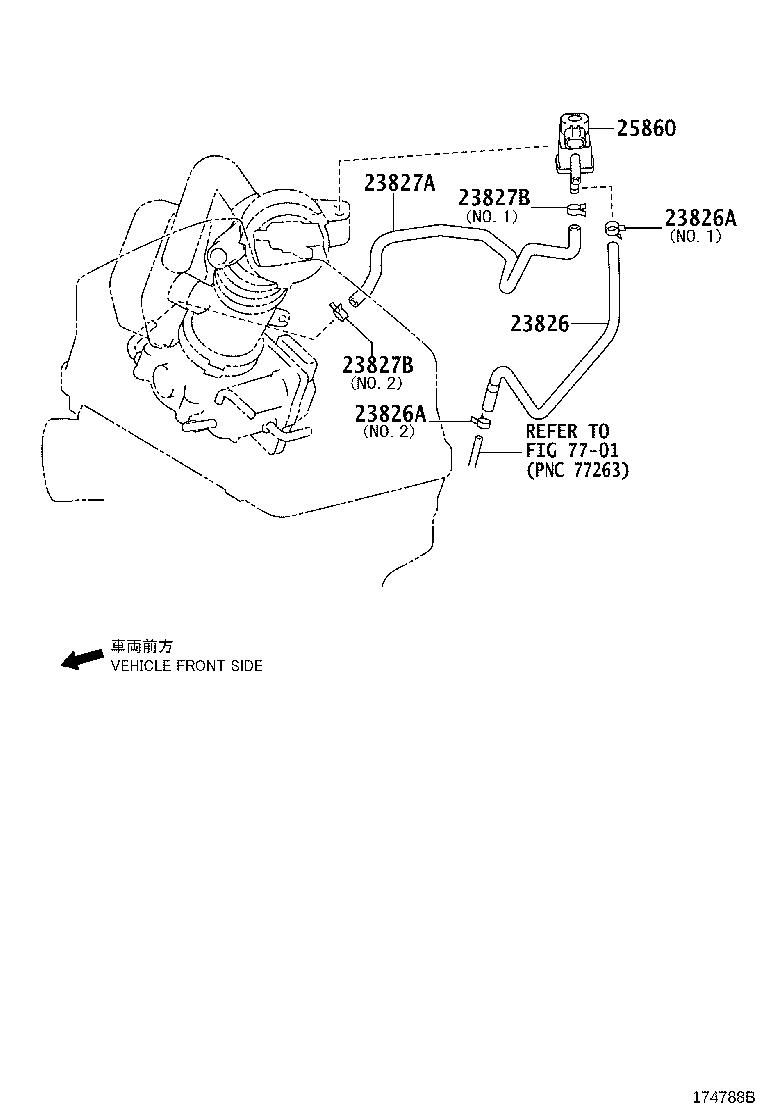 Toyota Camry Hose sub-assembly, vacuum(for idle-up