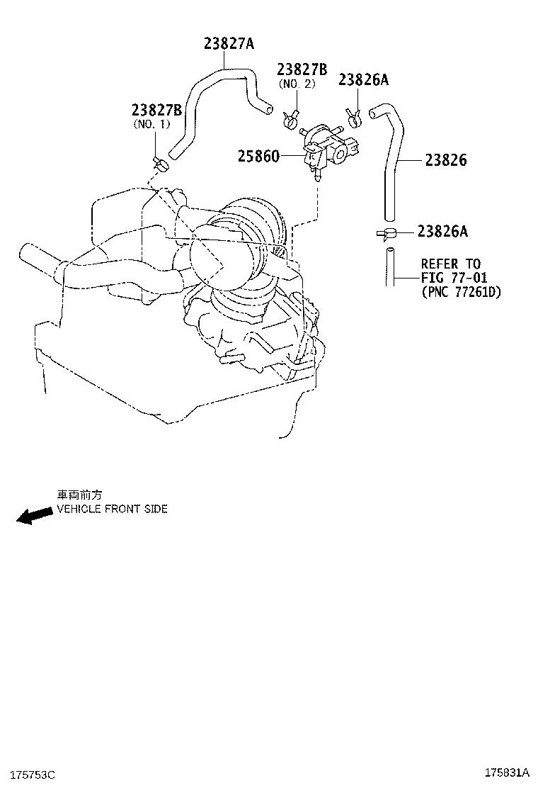 Toyota Corolla Valve assembly, vacuum switching, no. 1
