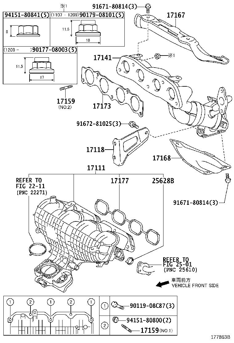 Toyota Prius Catalytic Converter with Integrated Exhaust