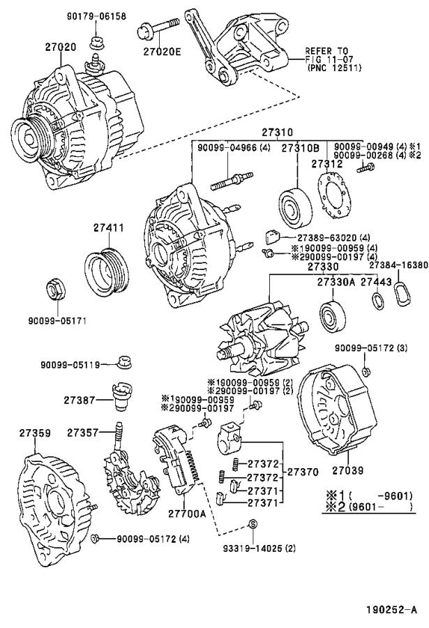 Toyota Tacoma Bearing(for alternator drive end frame