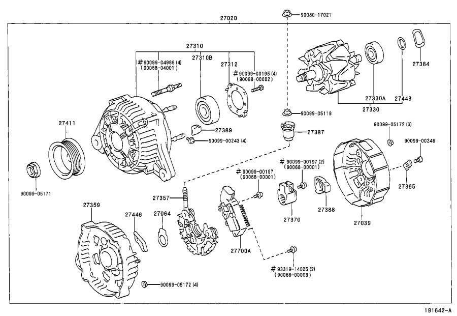 Toyota Avalon Rotor assembly, alternator. Engine