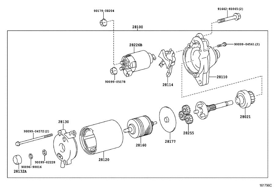 Toyota 4Runner Clutch sub-assembly, starter. Engine