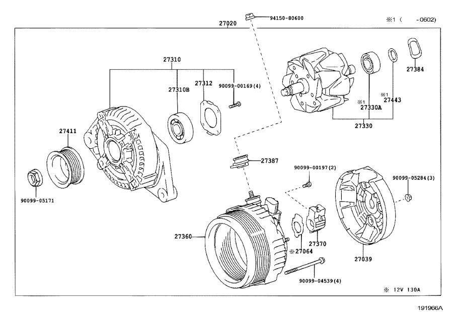Toyota Highlander Coil assembly, alternator. Engine