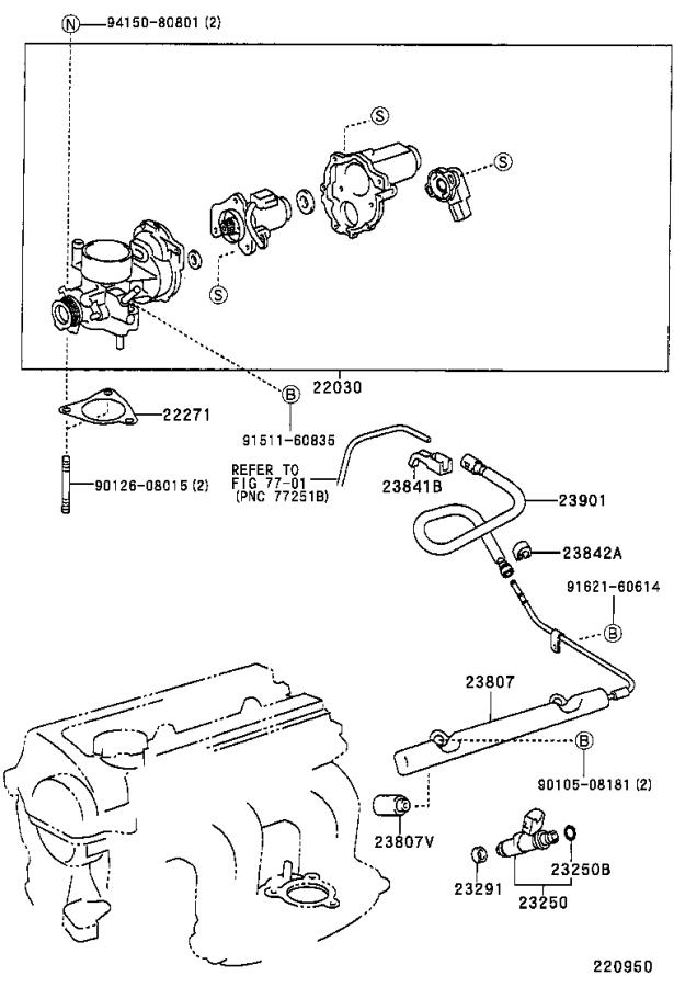 Toyota Prius Pipe sub-assembly, fuel delivery. System