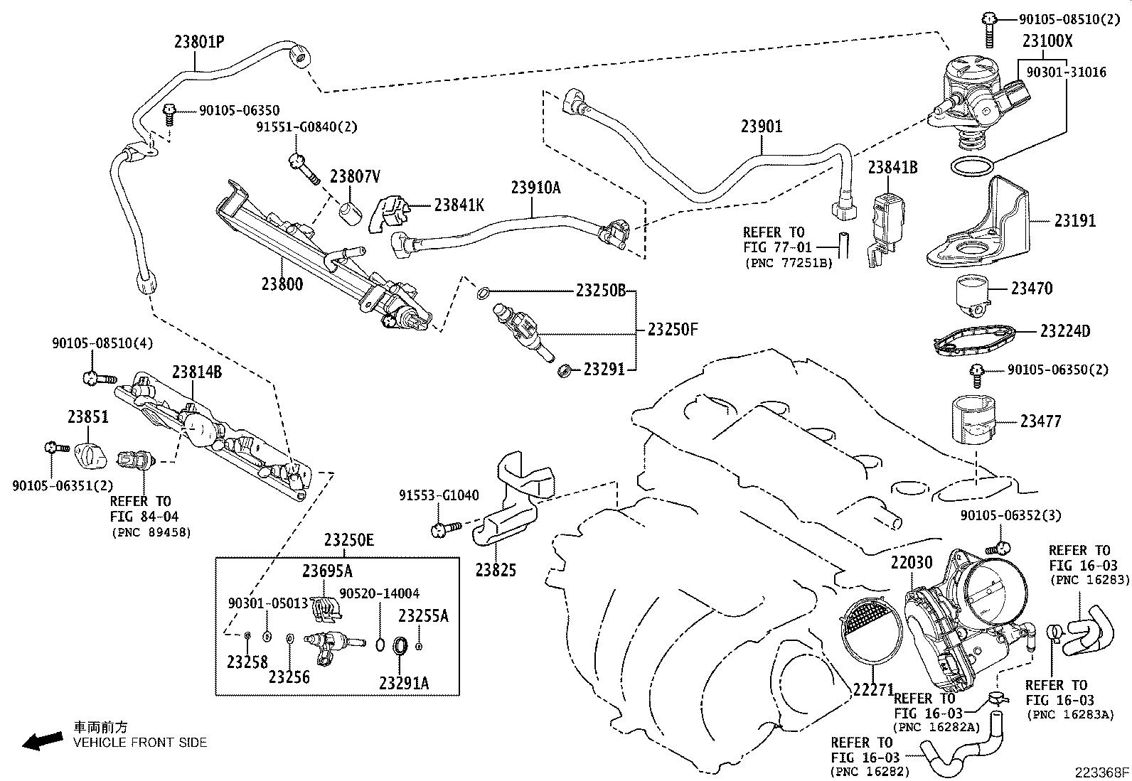 Toyota Camry Pipe Fuel Delivery System Injection