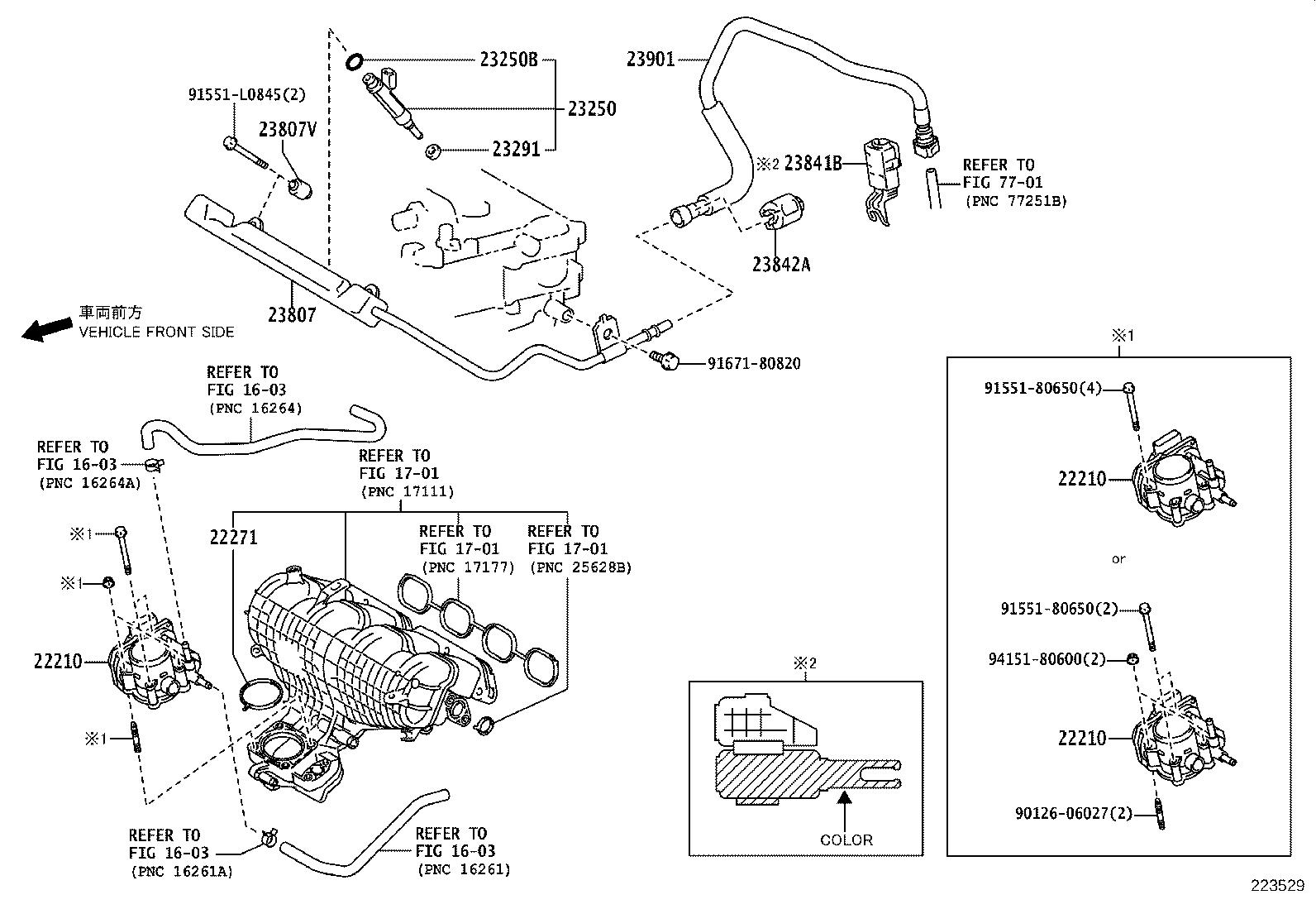 Toyota Prius Fuel Injector Injector Set Fuel System