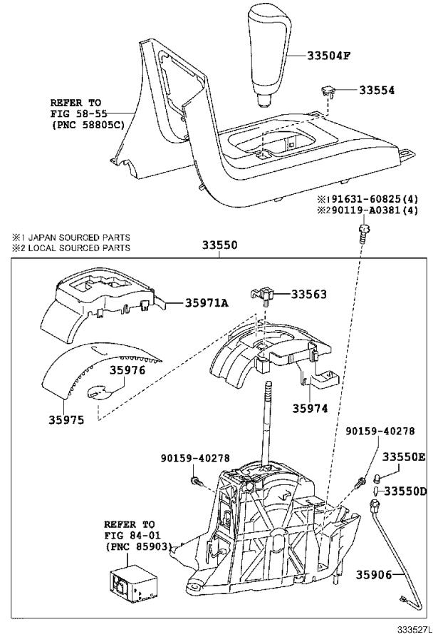 Toyota Sequoia Housing, position indicator, upper